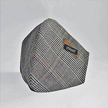 Rúška - Pánske ľanové ochranné rúško - 11890267_