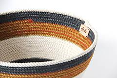 Košíky - Košíček modrohnědý - 11891254_