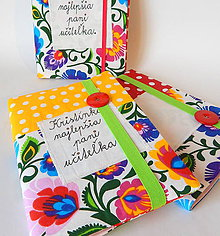 Papiernictvo - Zápisník / zošit - Pre pani učiteľku s gombíkom ♥ - 11890356_