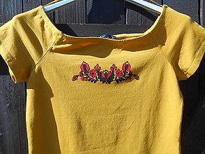 Tričká - žltá je IN-jemný folk vzor - 11890341_