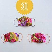 Rúška - Rúška/ústenky dámske 3D 4 vrstvy - 11891301_