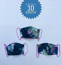 Rúška - Rúška/ústenky  3D 4 vrstvy - 11891397_