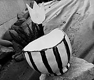Nádoby - Miska - čierno/biela - 11887955_