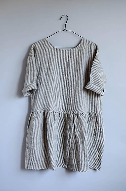 Šaty CLARA pásikové