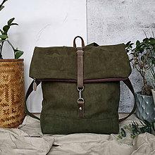 Batohy - Batoh (roll-backpack army zelená) - 11887768_