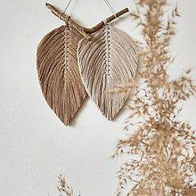 Dekorácie - Makramé závesná dekorácia NATURE (Piesková/kávová) - 11890382_