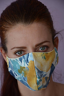 Rúška - Letné rúško na tvár (spodná časť 19 cm,horná časť 22 cm, nos - brada 14 cm - Pestrofarebná) - 11888989_