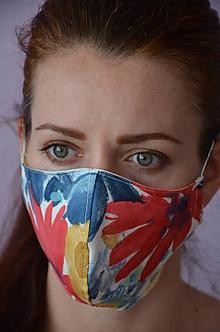 Rúška - Letné rúško na tvár (spodná časť 19 cm, horná časť 22, nos - brada 14 cm - Pestrofarebná) - 11888993_