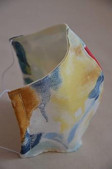 Rúška - Letné rúško na tvár (spodná časť 17 cm, horná časť 20 cm, nos - brada 14 cm - Pestrofarebná) - 11889442_