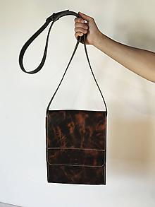 Kabelky - Kožená taška cez plece - 11888689_