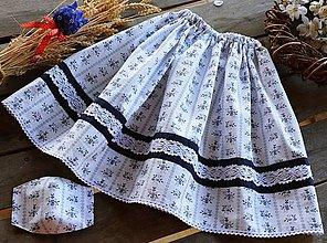Rúška - Detská suknička / sukňa - folk + rúško - 11889945_