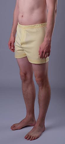 Oblečenie - Žlťásky 3 ks pánskych treniek biobavlna - 11888153_