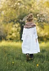 Detské oblečenie - Lněné šatičky bílé - 11891812_