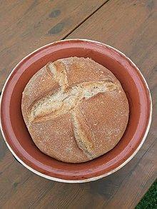 Nádoby - Keramický pekáč na chlieb. - 11888801_