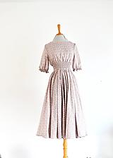 - Ľahučké šaty s vrapovaným elastickým pásom a kruhovou midi sukňou  - 11891310_