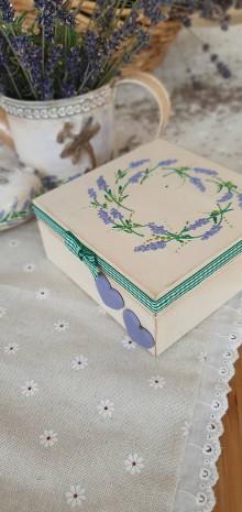 Dekorácie - Krabička- Levanduľa - 11889916_