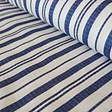 Textil - Modrý pruh na bielej - 11889107_