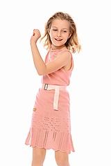Detské oblečenie - Dievčenské šaty, Diana - pudrovoružové - 11895972_