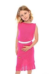 Detské oblečenie - Dievčenské šaty, Diana - cyklamenové - 11896298_