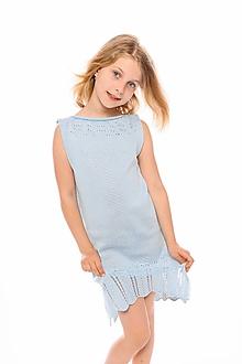 Detské oblečenie - Dievčenské šaty, Diana - modré - 11896134_
