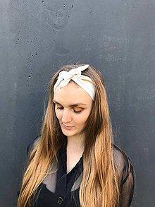 Ozdoby do vlasov - Šatka do vlasov Biela košeľa recyklovaná - 11894080_