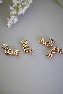 """Komponenty - """"love"""" prívesok s očkom - komponent - 11895519_"""