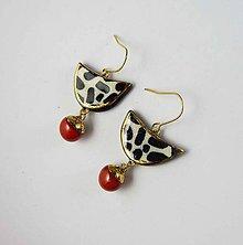 Náušnice - TANA hand made jewellery - keramika/zlato - 11893543_