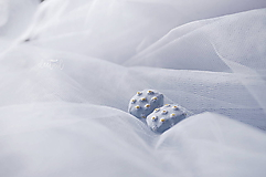 Náušnice - Sedmokrásky na sv.modrom - veľké - 11894568_