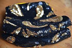 Rúška - Rúško na tvár TAJOMSTVO NOCI  (spodná časť 19 cm, horná časť 22 cm, nos - brada 15 cm - Čierna) - 11895316_