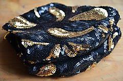 Rúška - Rúško na tvár TAJOMSTVO NOCI  (spodná časť 19 cm, horná časť 22 cm, nos - brada 15 cm - Čierna) - 11895317_