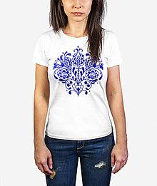 Tričká - Dámske tričko Modrý pán Tulipán - 11893176_