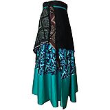 Sukne - Upcyklovaná Babičkina sukňa - zavinovacia dlhá - 11896561_