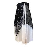 Sukne - Upcyklovaná Babičkina sukňa - čierno-biela - 11896628_