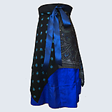 Sukne - Upcyklovaná Babičkina sukňa - modrá - 11896651_