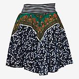 Sukne - Upcyklovaná Babičkina kruhová sukňa 1 - 11896662_