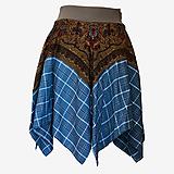 Sukne - Upcyklovaná Babičkina kruhová sukňa 3 - 11896679_