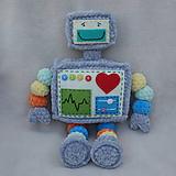 Hračky - Háčkovaný Robot Robo - 11895814_