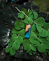 Náhrdelníky - Lesný amulet / prívesok z dreva a živice - 11896045_