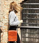 Kabelky - Kožená taška cez plece - 11892909_