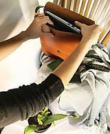 Kabelky - Kožená taška cez plece - 11892910_