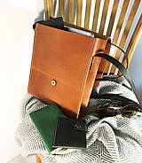 Kabelky - Kožená taška cez plece - 11892912_