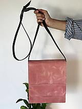 Kabelky - Kožená taška cez plece - 11892915_