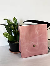 Kabelky - Kožená taška cez plece - 11892916_