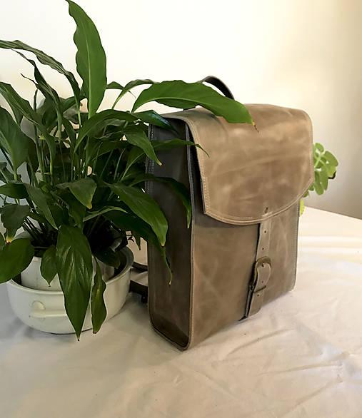 Kožený batoh - urban svetlý