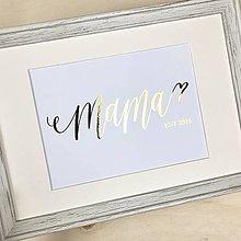 Grafika - Mama, žiarivá grafika A5 - 11894425_