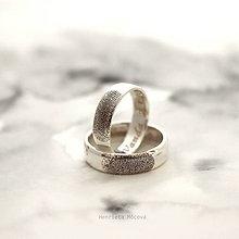 Prstene - Obrúčky alebo prívesok s odtlačkom prsta - 11894462_
