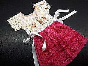 Úžitkový textil - Dekoračný uteráčik (vintage,ruže a cyklamén) - 11902062_