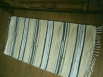 Úžitkový textil - tkany koberec bananovy - 11898886_