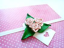 Papiernictvo - Pohľadnica ... ruže ružové - 11899243_