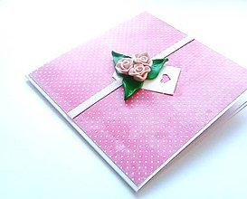 Papiernictvo - Pohľadnica ... ruže ružové - 11899254_